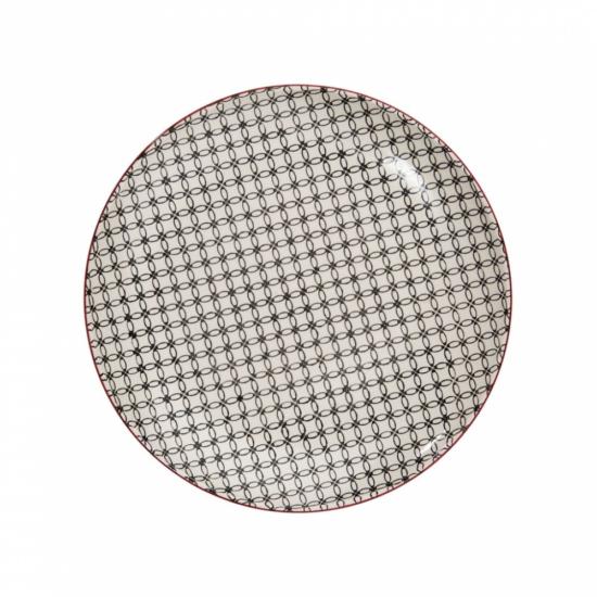 RETRO tányér fekete 25.4cm