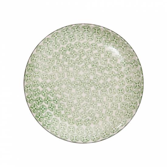 RETRO tányér zöld 25.4cm