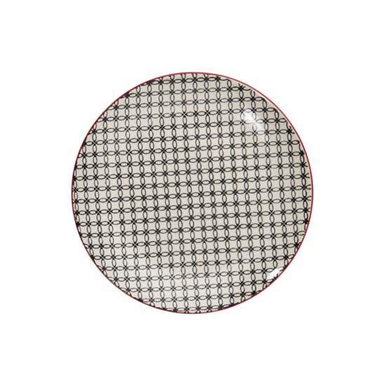 RETRO tányér fekete 20.3cm