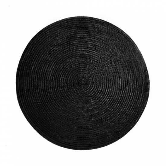 AMBIENTE alátét fekete kerek 38cm