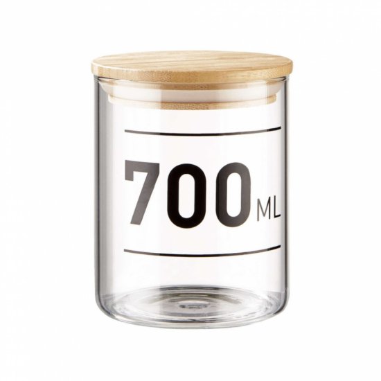 WOODLOCK üveg tartó 700ml feliratos