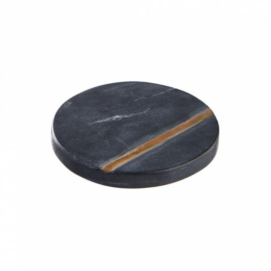 MARBLE márvány alátét 10cm fekete/arany
