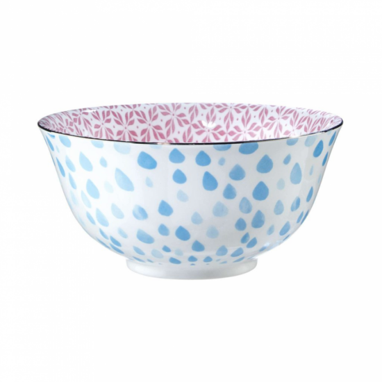 ORNAMENTS bögre kék kék/pink ezüst szegéllyel 520ml