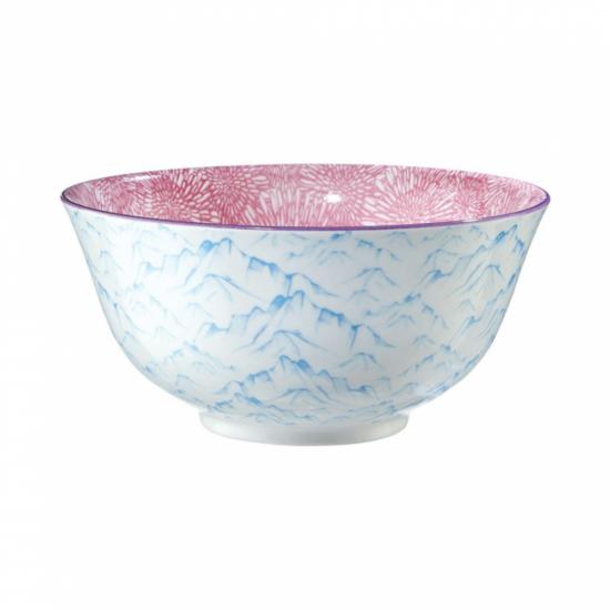 ORNAMENTS tálka kék/világos pink 520ml