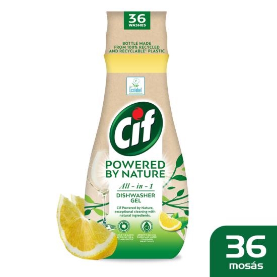 Cif Gépi Mosogatógél Természet Erejével All-In-One Lemon 36 mosás