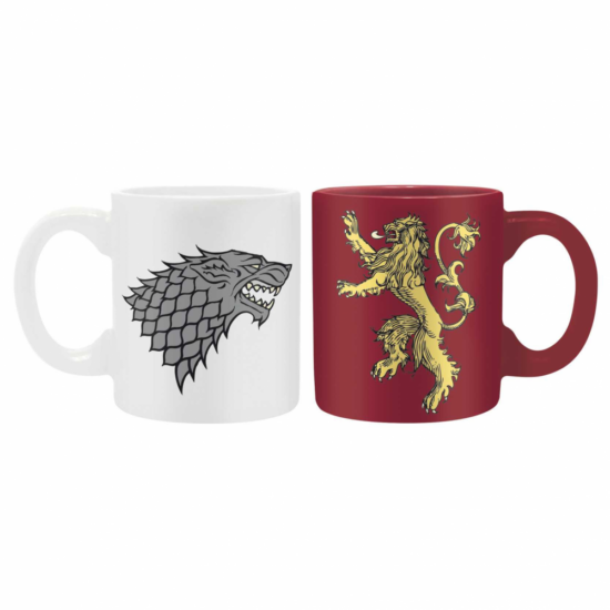GAME OF THRONES 2 db-os mini bögre szett 110 ml Stark & Lannister