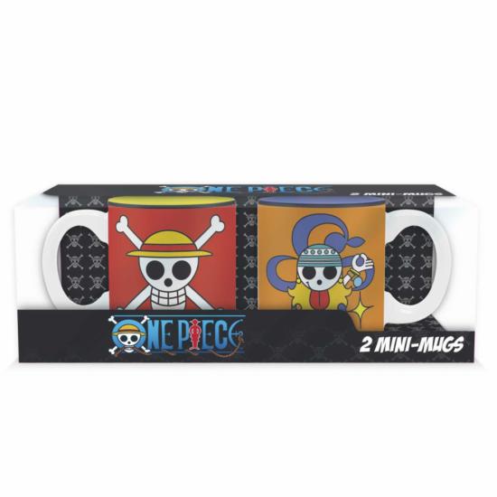 ONE PIECE - 2 db-os mini bögre szett - 110 ml - Luffy&Nami embléma