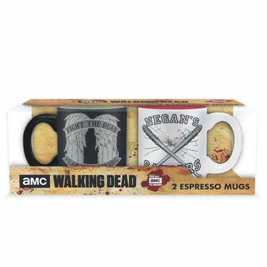 THE WALKING DEAD 2 db-os kicsi pohárszett - 110 ml Daryl VS Negan