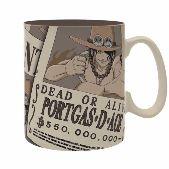 ONE PIECE - bögre - 460 ml - Wanted Ace