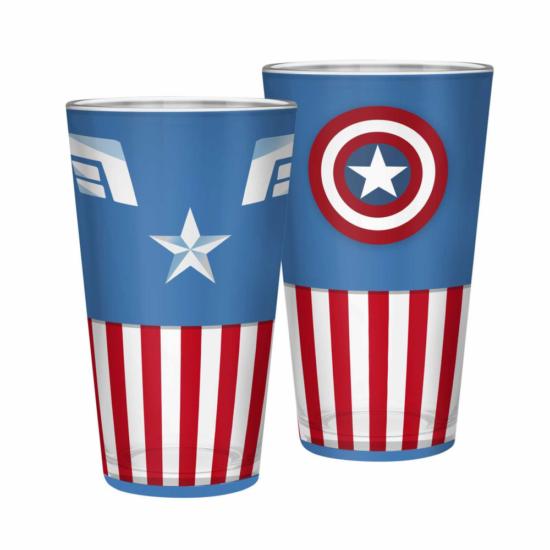 MARVEL - XXL pohár - 400 ml - Amerika kapitány -