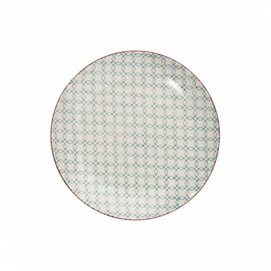 RETRO tányér világos kék 20.3cm