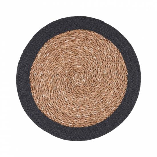 SAUVAGE alátét natúr fekete szegéllyel 38cm