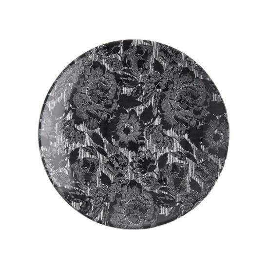 BLUE BLOSSOM tányér 27cm fekete