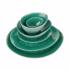 DE LA ROYA tányér 28,7x24cm sötét zöld