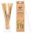 Újrahasználható bambusz szívószál tisztítókefével 12 db