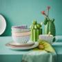 Kép 5/7 - RETRO tányér zöld 20.3cm