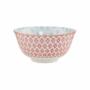 Kép 1/6 - ORNAMENTS tálka kék mintás / piros virágos 520ml