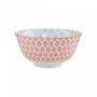 Kép 4/6 - ORNAMENTS tálka kék mintás / piros virágos 520ml