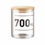 Kép 1/6 - WOODLOCK üveg tartó 700ml feliratos