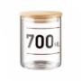 Kép 4/6 - WOODLOCK üveg tartó 700ml feliratos