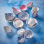 Kép 5/6 - ORNAMENTS tálka kék/pink ezüst szegéllyel 240ml