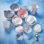 Kép 6/6 - ORNAMENTS tálka kék/pink ezüst szegéllyel 240ml