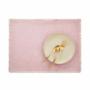 Kép 2/6 - RAW CANVAS alátét rojtokkal rózsaszín
