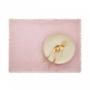 Kép 4/6 - RAW CANVAS alátét rojtokkal rózsaszín