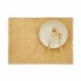 Kép 2/5 - RAW CANVAS alátét rojtokkal sárga