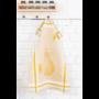 Kép 2/6 - TEA Okker színű konyharuha körte mintával 50*70 cm