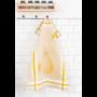 Kép 4/6 - TEA Okker színű konyharuha körte mintával 50*70 cm