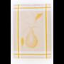 Kép 6/6 - TEA Okker színű konyharuha körte mintával 50*70 cm