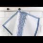 Kép 3/6 - TEA Konyharuha fehér alapon sötétkék mintával 50*70 cm