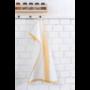 Kép 1/6 - TEA Konyharuha fehér alapon okker mintával 50*70 cm