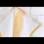 Kép 3/6 - TEA Konyharuha fehér alapon okker mintával 50*70 cm