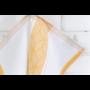 Kép 5/6 - TEA Konyharuha fehér alapon okker mintával 50*70 cm