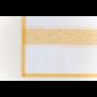 Kép 6/6 - TEA Konyharuha fehér alapon okker mintával 50*70 cm