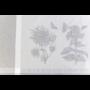 Kép 7/7 - HERB Szürke színű asztalterítő növény mintákkal 140*180 cm