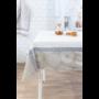 Kép 2/6 - TRICOT Mandala mintás asztalterítő, fehér alapon drapp és kék színű 140*180 cm.