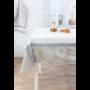 Kép 3/6 - TRICOT Mandala mintás asztalterítő, fehér alapon drapp és kék színű 140*180 cm.