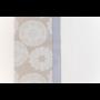 Kép 6/6 - TRICOT Mandala mintás asztalterítő, fehér alapon drapp és kék színű 140*180 cm.