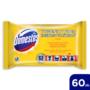 Kép 2/4 - Domestos Higiénikus Törlőkendő Lemon 60db