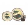 Kép 6/7 - Yuunaa bambusz gyerek étkészlet - viziló