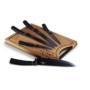 Kép 4/6 - Berlinger Haus 6 részes késkészlet bambusz vágódeszkával, rose gold-fekete