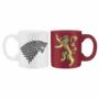Kép 1/5 - GAME OF THRONES 2 db-os mini bögre szett 110 ml Stark & Lannister