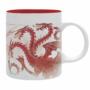 "Kép 1/5 - GAME OF THRONES - bögre - 320 ml - ""Red Dragon""- subli"