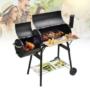 Kép 1/6 - 2in1 faszenes BBQ grill és smoker