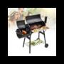 Kép 3/6 - 2in1 faszenes BBQ grill és smoker