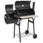 Kép 5/6 - 2in1 faszenes BBQ grill és smoker