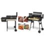 Kép 6/6 - 2in1 faszenes BBQ grill és smoker